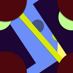 Flat material design - Creative vector trend seamless