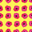 canvas print picture - Seamless flower pattern. Gentle spring and summer flowers. Print for fabric and other surfaces.Seamless floral pattern. Gentle spring and summer flowers. The print for fabric and other surfaces