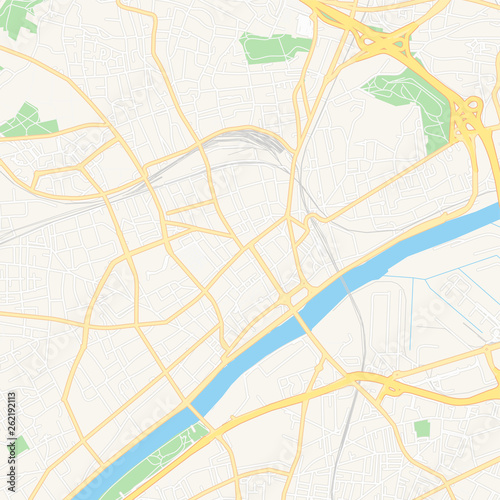 Argenteuil, France printable map Canvas Print