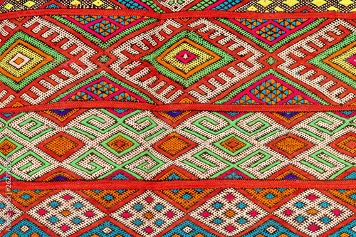 Set of banners with textures of berber traditional wool carpet with geometric pa Wallpaper Mural