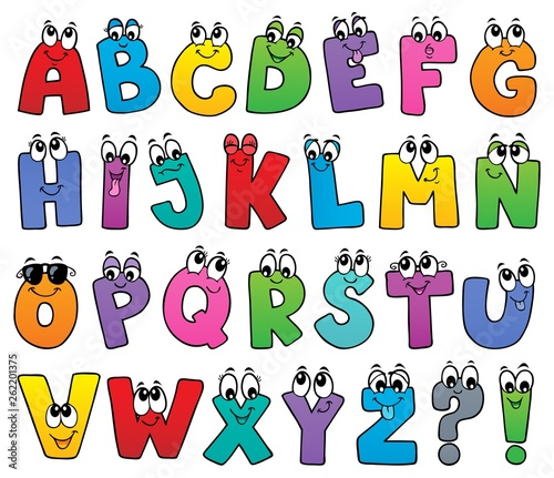Printed kitchen splashbacks For Kids Cartoon alphabet topic image 1