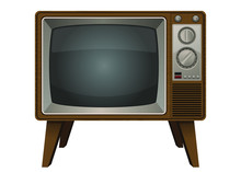 Vintage Old Television Vector ...