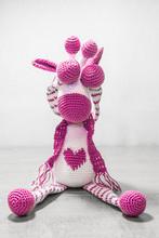 Crochet Giraffe Playing Peek-A-Boo