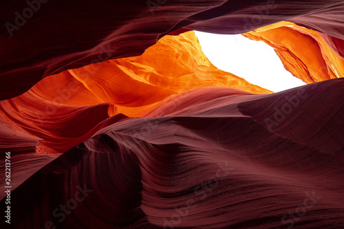Keuken foto achterwand Oranje eclat Antelope Canyon - amazing colors of the sandstone rocks - travel photography