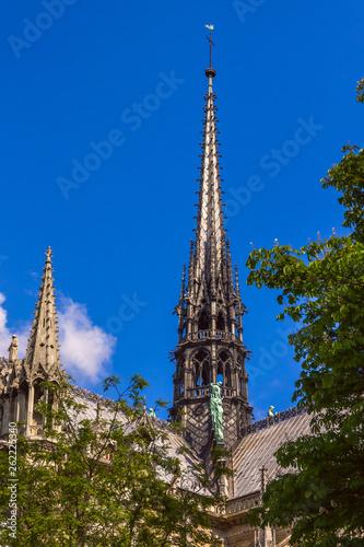 Fotomural Spire of Cathedral of Notre Dame de Paris, France
