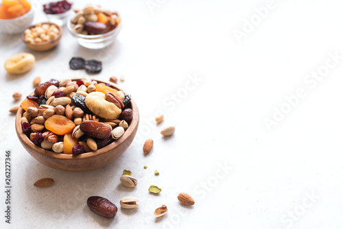 Fotografia, Obraz Mixed nuts and dried fruits