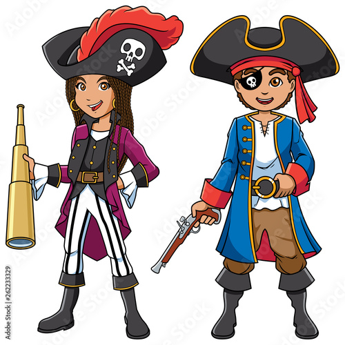 Photo Pirate Kids Cartoon