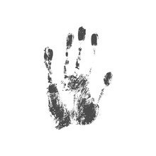 Illustration Of A Handprint.