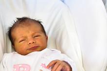 Detail Of Newborn Baby Face Having Jaundice