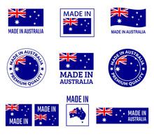 Made In Australia Labels Set, ...