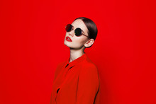 Fashion Model In Sunglasses, B...