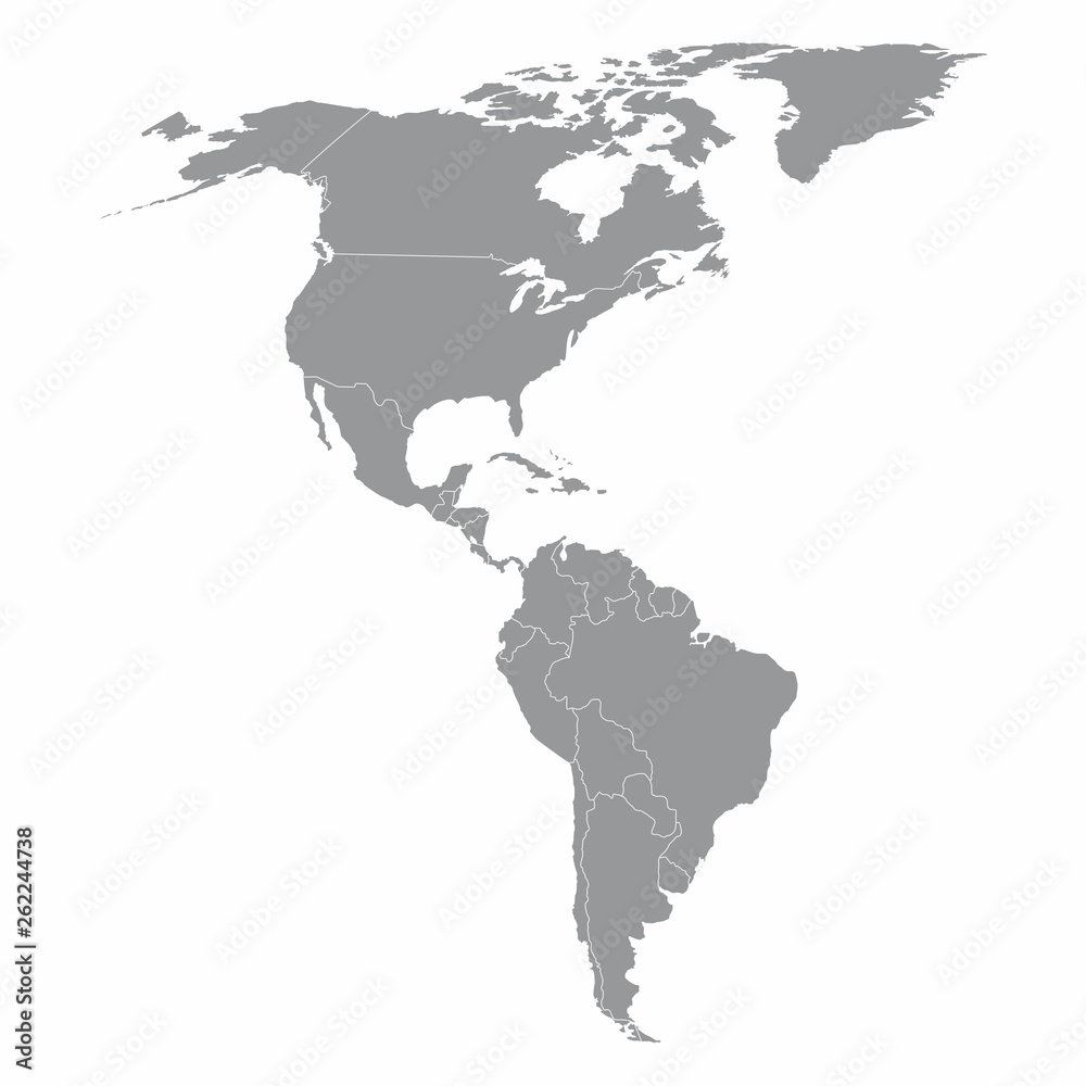North and South America map Foto, Poster, Wandbilder bei ...