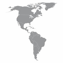 North And South America Map