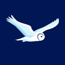 Flying Owl Vector Logo Icon