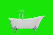 Leinwanddruck Bild - Beautiful luxury vintage bathtub decoration in bathroom interior
