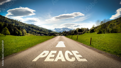 Photo  Street Sign to Peace