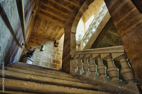 Traditional Maltese staircase in an old palazzo
