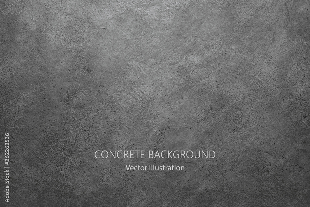 Fototapeta Vector gray concrete texture. Stone wall background.