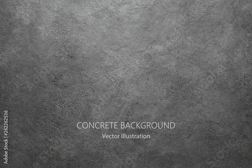 Obraz Vector gray concrete texture. Stone wall background. - fototapety do salonu