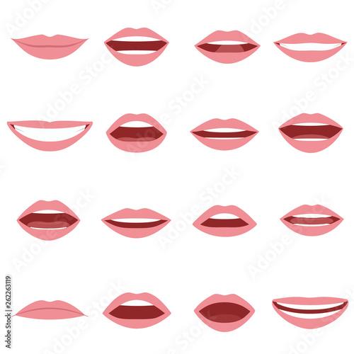 Mouth animation set Canvas-taulu