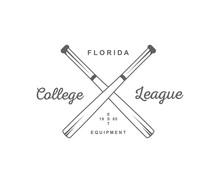Baseball College League Logotype.