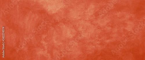 Fotografie, Obraz  Orange background with old vintage grunge texture, solid warm orange color for h