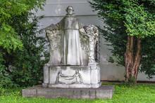 Statue Of Gregor Mendel In The Garden At The Mendelianum, The Mendel Museum, Brno.