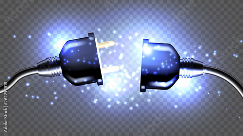 Fotografía Disconnected Electrical Plug Vector Realistic 3D Illustration