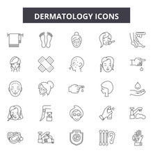 Dermatology Line Icons, Signs ...