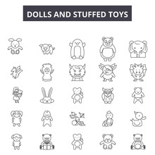 Dolls And Stuffed Toys Line Ic...