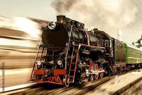 Fotomural  Old steam locomotive.
