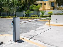 Entrance Barrier Gate To Parking Lot