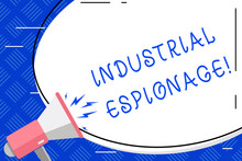 Writing Note Showing Industria...