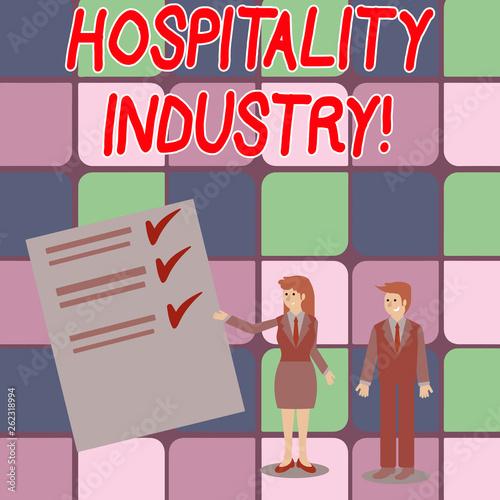 Fotografía  Word writing text Hospitality Industry
