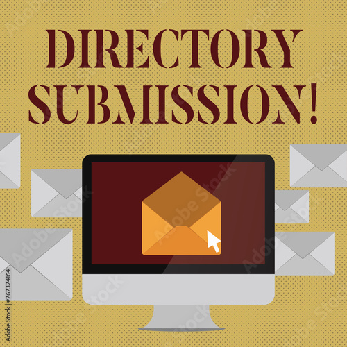 Writing note showing Directory Submission  Business concept