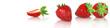 canvas print picture - Erdbeeren Banner