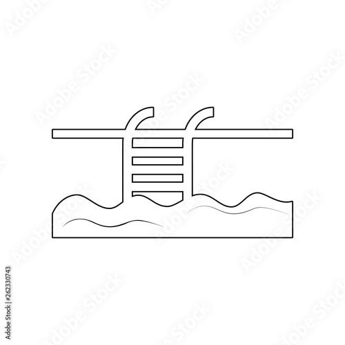 Swimming Pool icon. Element of Beach for mobile concept and web apps ...