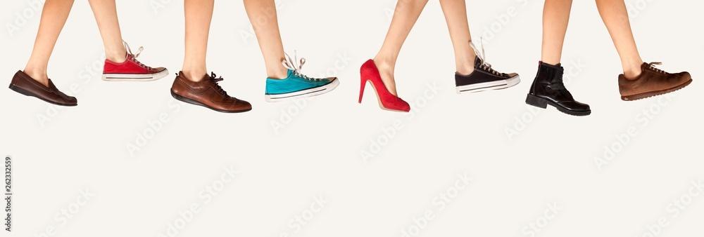 Fototapety, obrazy: shoe store advertisement
