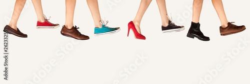 shoe store advertisement Canvas Print