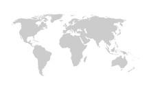 World Map - Gray Vector Detail...