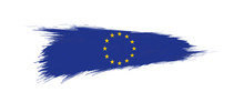 Flag Of European Union In Grun...