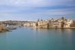 Valletta old town panoramic view, Mediterranean sea. Capital of Malta island.