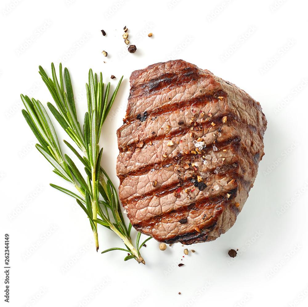 Obraz grilled steak and rosemary fototapeta, plakat