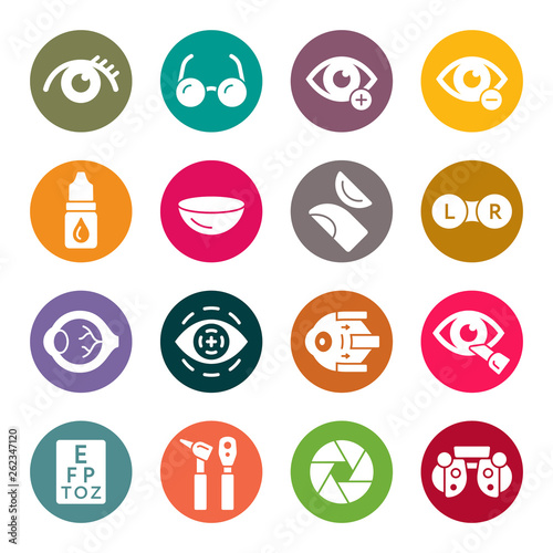 Ophthalmology icon set Wall mural