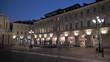Piazza San Carlo at night in Turin, Italy, Europe