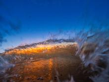 Sunset Crashing Wave