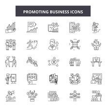 Promoting Buisness Line Icons,...