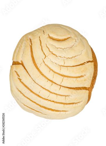 Fotografiet  bread detail on white background