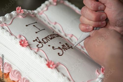 Obraz Tort komunijny - fototapety do salonu