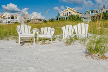 White Adirondack Beach Chairs ...